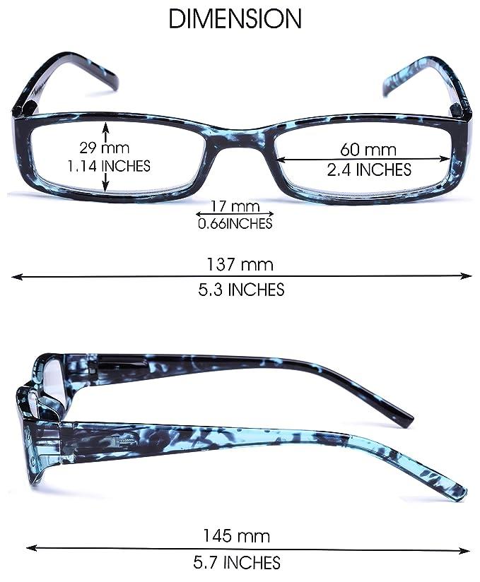 VEVESMUNDO Lesebrille Damen Herren Federscharnier Schildpatt Vintage Brille Augenoptik Sehhilfe Rechteckige Lesehilfe Schwarz Grün Blau Lila Gelb mit Sehstärke 10 15 20 25 30 35 40 kSZJepWWs
