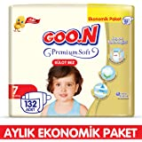 Goon Premium Soft Külot Bez 7 Beden Aylık Ekonomik Paket 132 Adet
