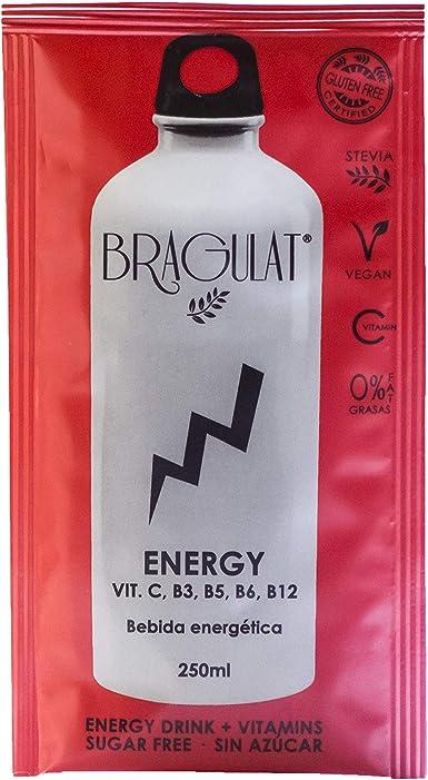 BRAGULAT | Pack de Bebidas y Refrescos Energéticas Instantáneas en Polvo | Sin Azúcar y con Vitamina C, B3, B5, B6 YB12 | 15 Sobres: Amazon.es: Alimentación y bebidas