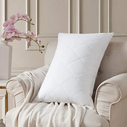 L Lovsoul Goose Feather Bed Pillowsmedium Firm Feather Pillows Queen Size 20x28100 Egyptian Cotton Cover600tc