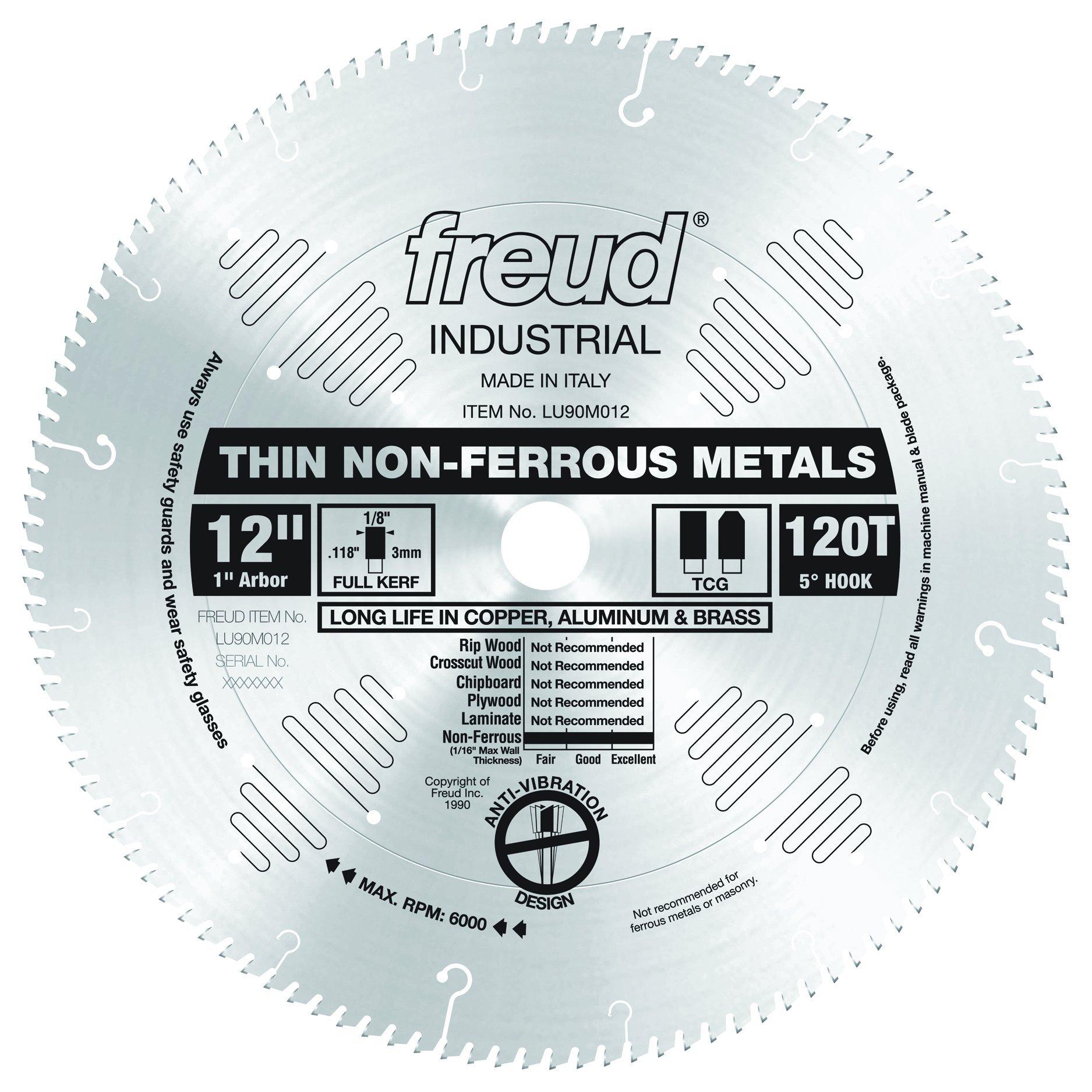 Freud 12'' x 120T Thin Stock Non-Ferrous Metal Blade (LU90M012) by Freud
