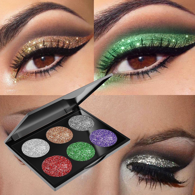 30747111cc2 Amazon.com : Glitter Eyeshadow Powder Waterproof, MojiDecor Beauty Makeup  Cosmetic Eye Shadow Diamond Shiny Shimmer, Silky Smooth & Long Lasting :  Beauty