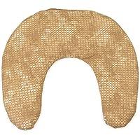 Kersenkern nekkussentje 30x33 batik-goud | kersenstenen kussen nek | nekkussen warmtekussen