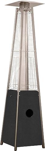 Hiland HLDSO1-GTCB 91-Inch Tall Quartz Glass Tube Heater – Hammered Silver