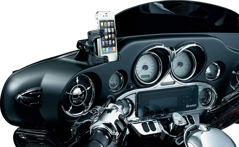 Ciro 50317 Black Fairing Mount Smartphone//GPS Holder Without Charger for 2014-2016 Harley-Davidson FLHT//FLHX Touring Models