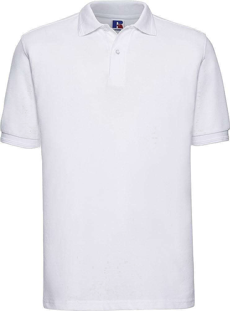 Russels Workwear - Polo - Polo - Manga Corta - para Hombre Blanco ...