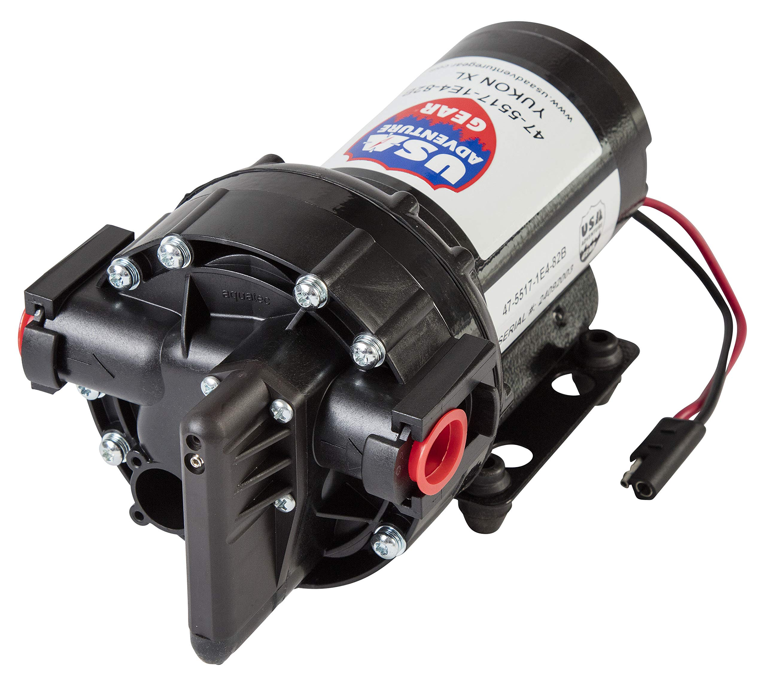 USA Adventure Gear Progear 5500 High Performance Professional Grade Water Pump | 5.3GPM | 14 Foot Lift | 60 PSI |Electric Quiet Operation | Self-Priming | Potable Water Use | RV, Boat, Plumbing by USA Adventure Gear