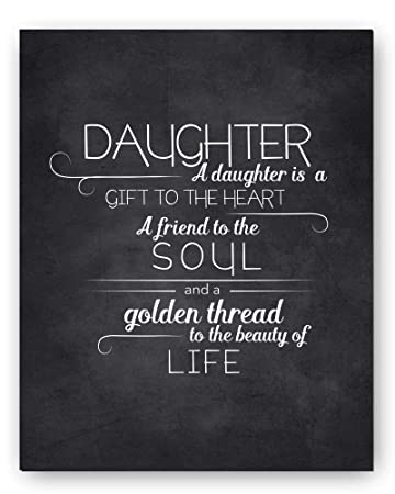 Daughter Quotes | Amazon Com Daughter Gift Daughter Quote Sign Unique Daughter Gift