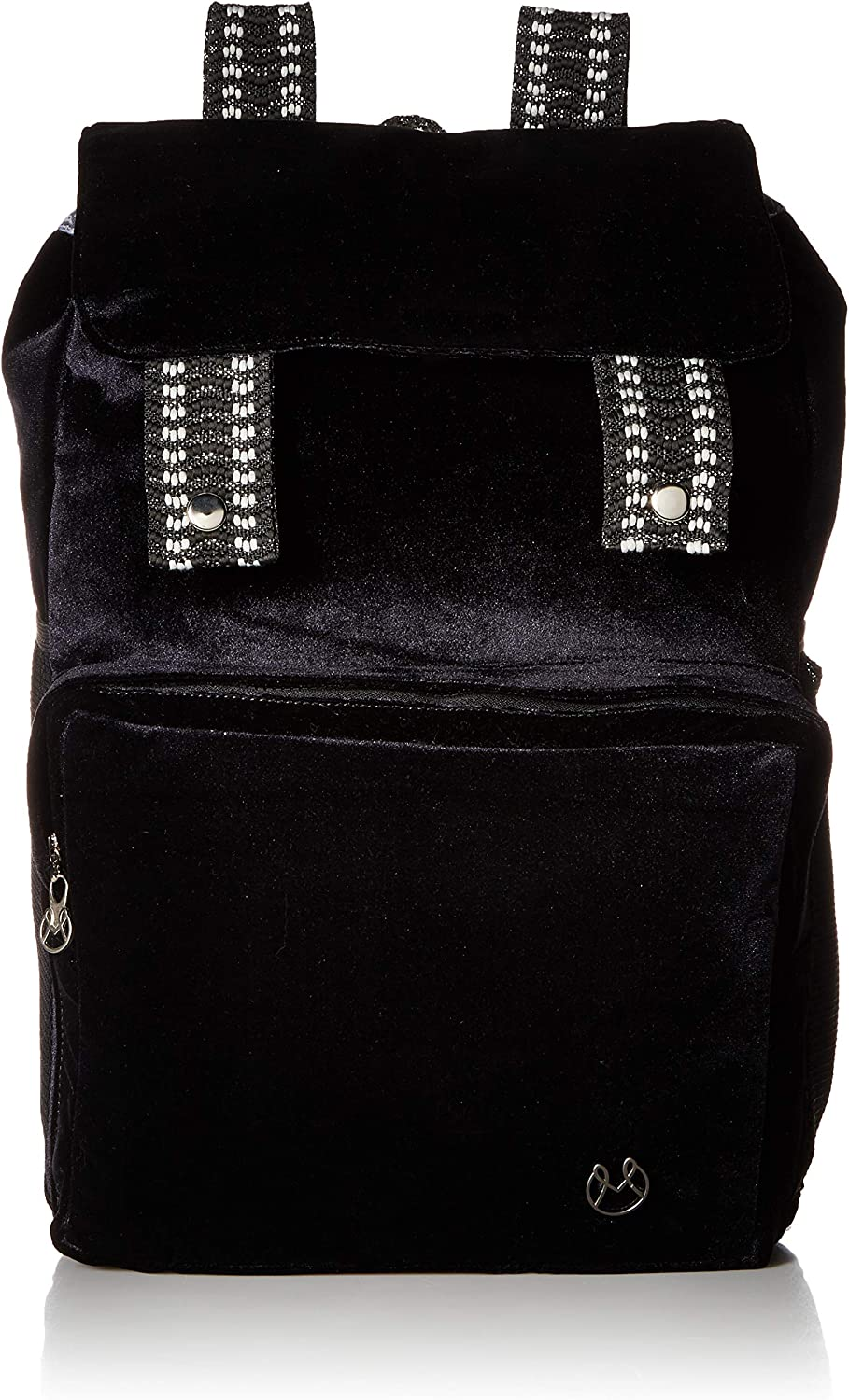 Maaji Women s The Softy Velour Backpack With Contrast Straps, black, One Size