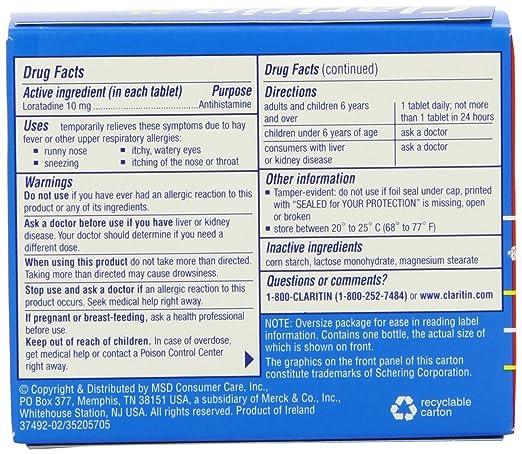 Claritin tablets