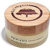 balmyou pur Nilotica karité en verre 100ml avec couvercle cosmétique naturel en bambou Ouganda non raffiné kaltgepresst végétalien sans additifs