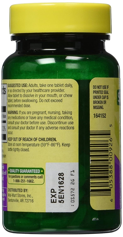 Amazon.com: Spring Valley - Vitamin B-12 5000 mcg, Sublingual, Cherry Flavor, 60 Microlozenges: Health & Personal Care