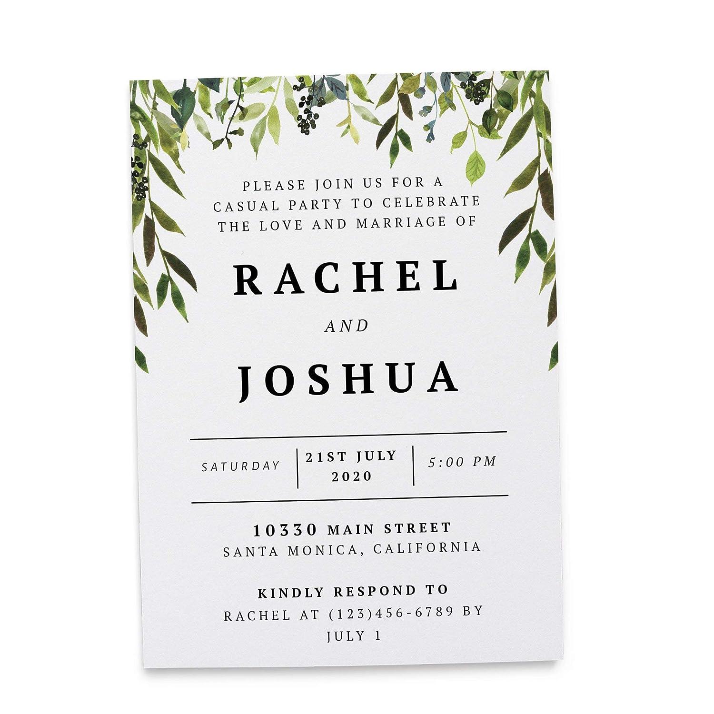 Amazon Com Wedding Reception Invitation Cards Marriage Reception