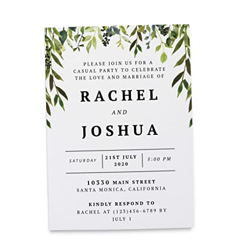 Amazon Com Wedding Reception Invitation Cards Marriage Reception
