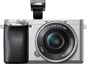 Sony Alpha 6100 - Cámara Evil APS-C con Objetivo Zoom Potente Sony 16-50mm f/3.5-5.6, Enfoque automático rápido 0.02s, Eye AF para Personas y Animales, grabación vídeo 4K, Pantalla inclinable, Plata