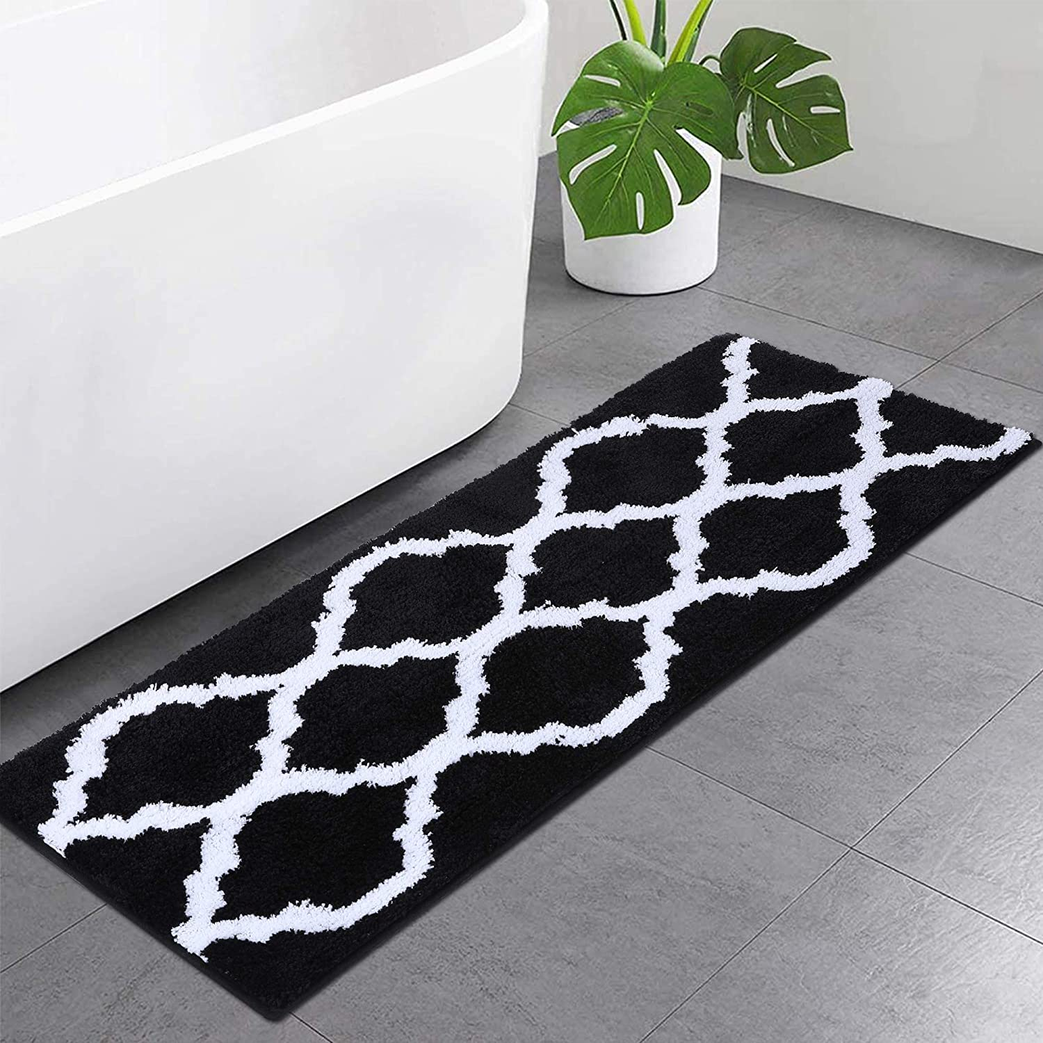 Olanly Luxury Bathroom Rugs Microfiber Bath Shower Mat, Machine Wash and Dry, Non-Slip Absorbent Shaggy Carpet Bath Mat for Bathroom, Living Room and Laundry Room 17