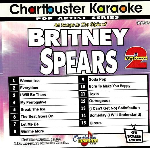 Britney Spears - Chartbuster Karaoke Britney Spears Vol  2 - Amazon