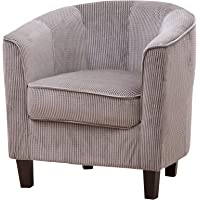 Brand New Laurent Striped Fabric Tub Chair/Armchair Seating - 4 Colours Available