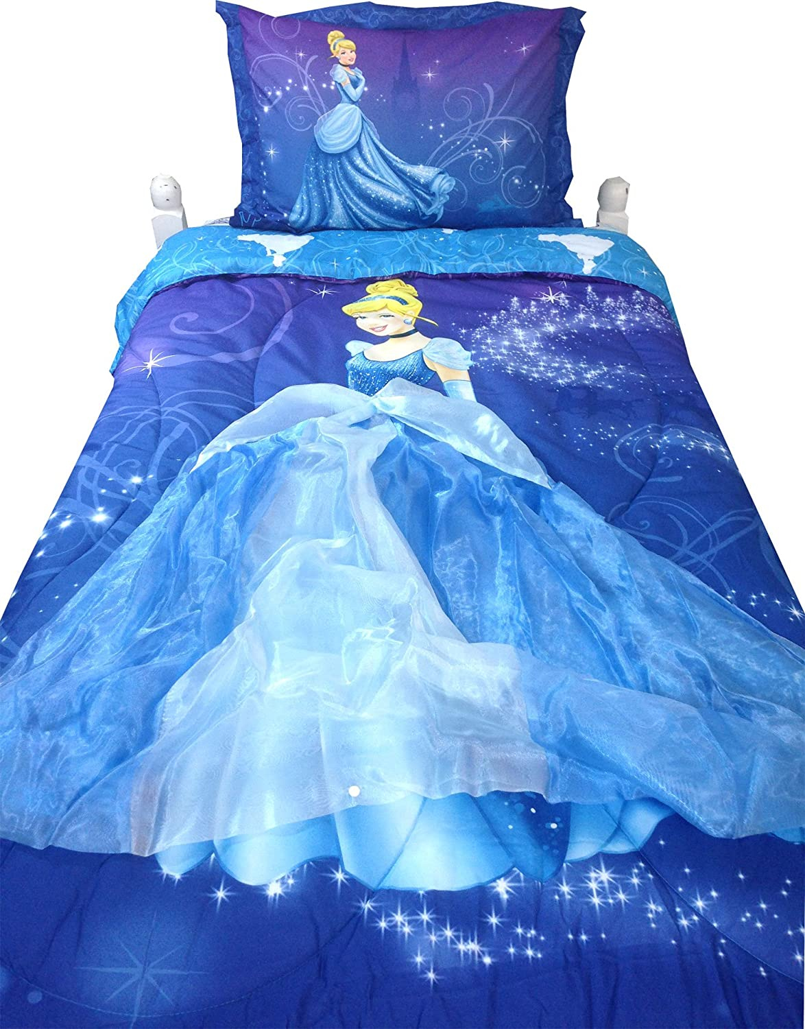amazon com disney cinderella comforter with wearable princess amazon com disney cinderella comforter with wearable princess skirt home kitchen