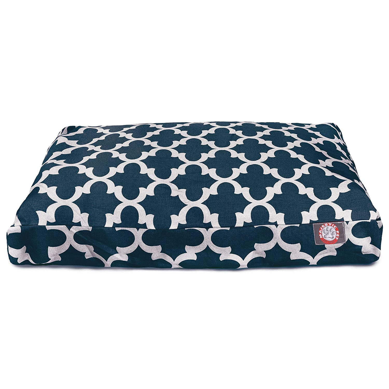 Amazon.com: Majestic Pet enrejado rectángulo Pet Bed, Marino ...
