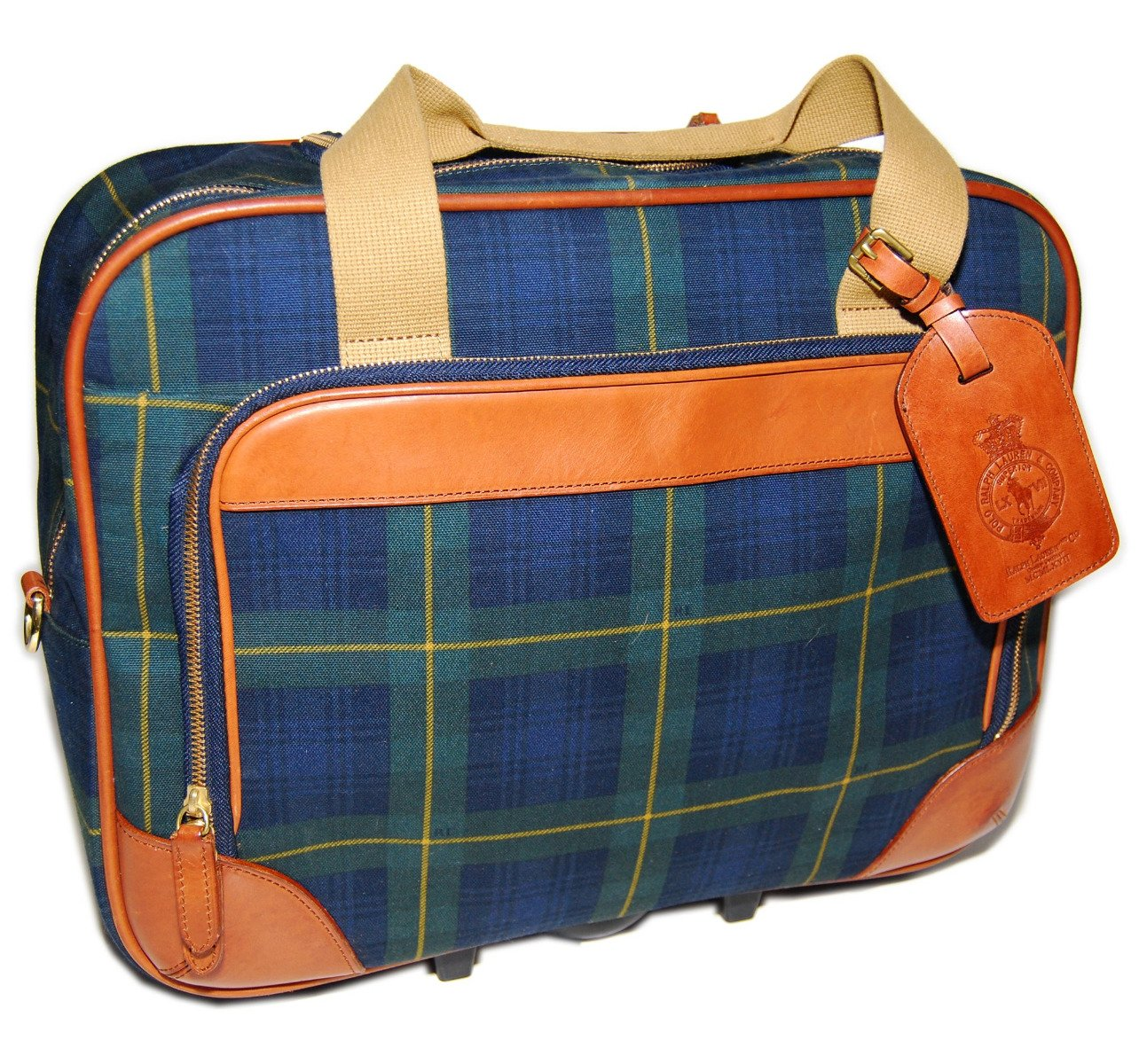 Polo Ralph Lauren Carry-on Travel Luggage Roller Bag Suitcase Green Navy  Plaid  Amazon.ca  Luggage   Bags 5a4902ff7d