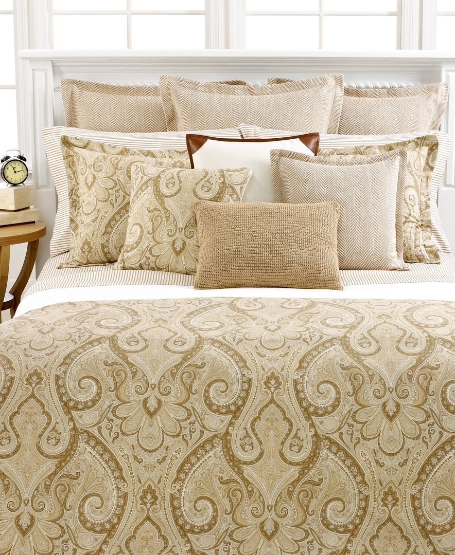 Ralph Lauren Desert Spa Paisley King Duvet Cover