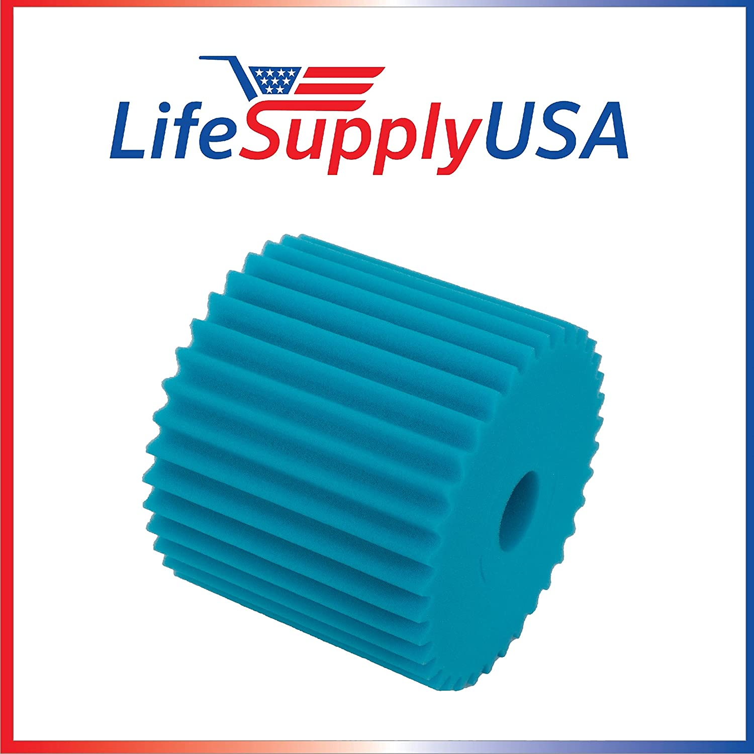 LifeSupplyUSA 2 Pack Central Vacuum Foam Filter Replacement Filter Electrolux Centralux Blue
