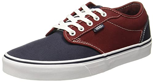 641540df07a Vans Men s Atwood (2-Tone) Madder Brown Parisian Night Sneakers - 6