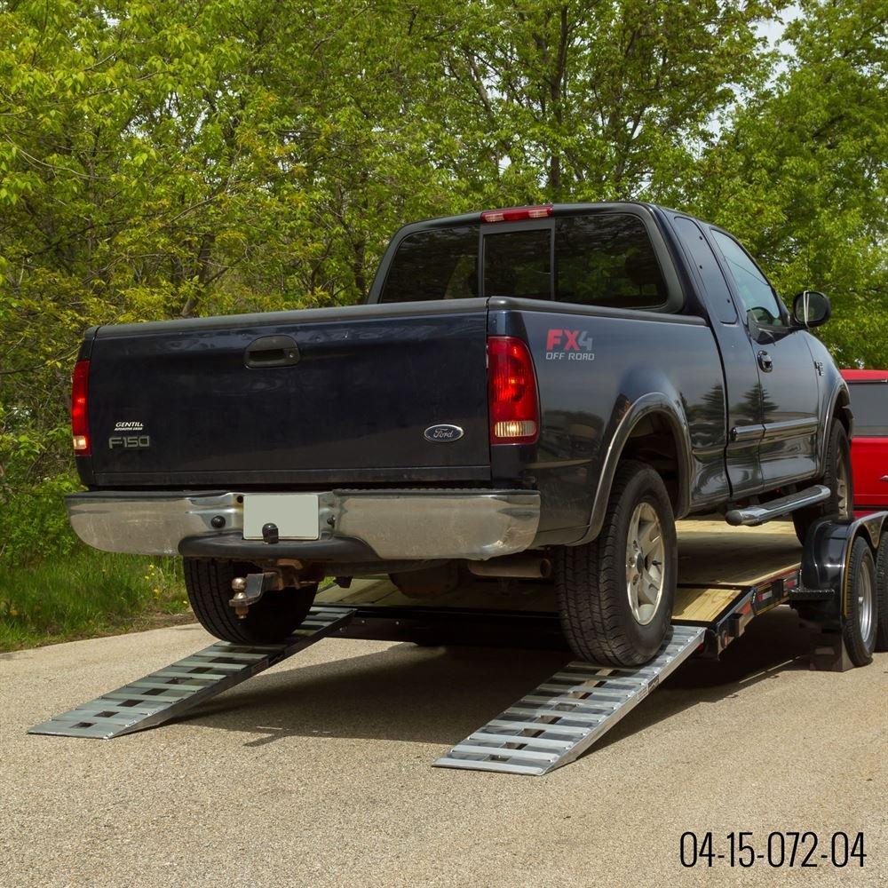 72 Aluminum Car Hauler Beavertail Trailer Ramps