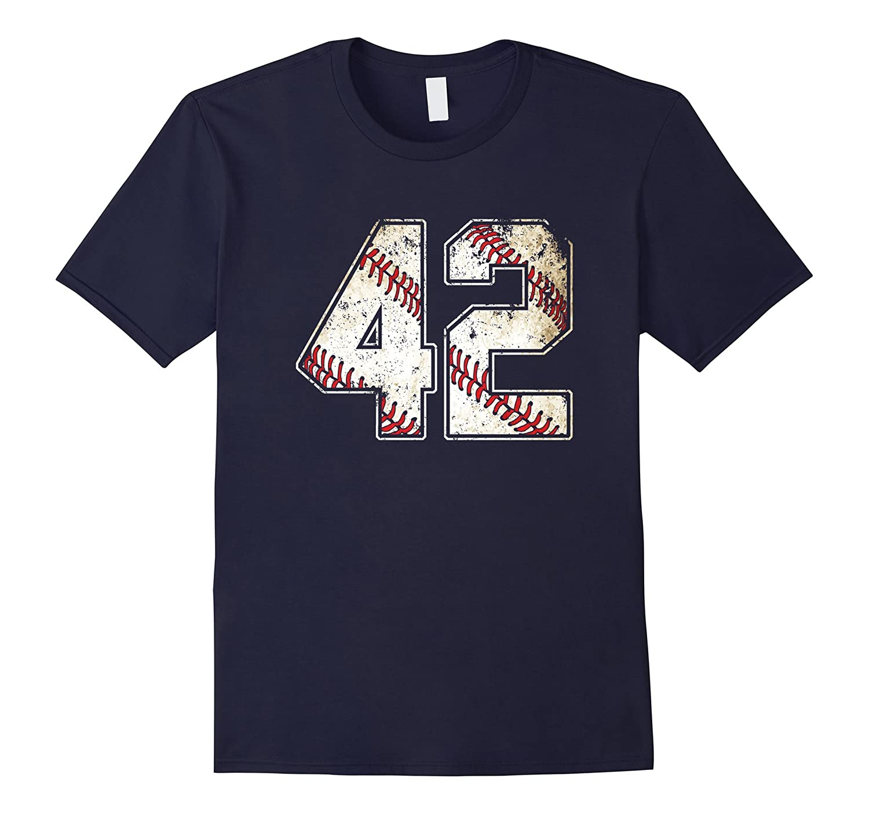 #42 Baseball Jersey Number 42 Retro Vintage T-Shirt-T-Shirt