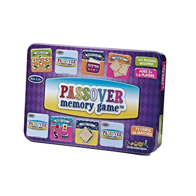 Rite Lite Passover Memory Game Collectible Tin Pack of 72 Cards: Toys & Games