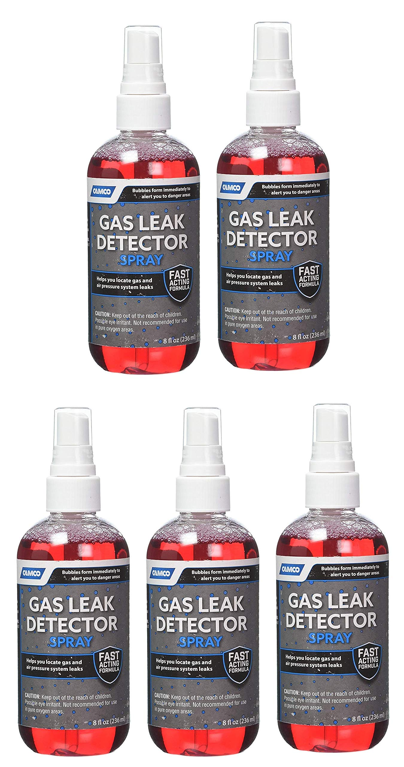 Camco 10324 Gas Leak Detector with Sprayer - 8 oz (8 Ounce - 5 Pack)