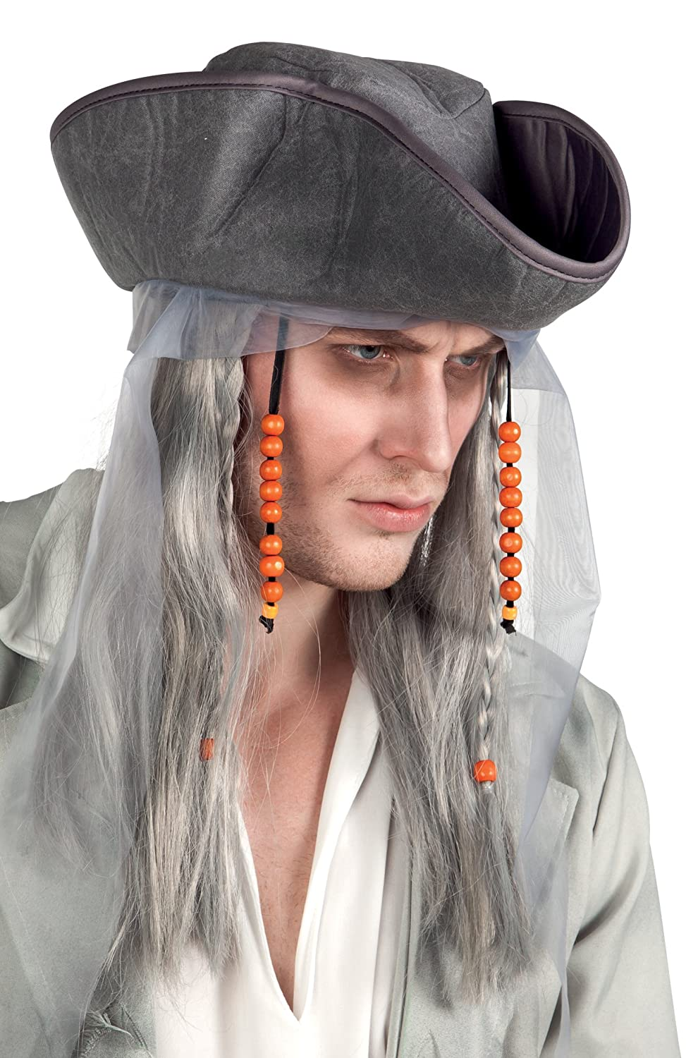 442314915af Boland 85726 Adults Ghost Pirate Wig and Hat