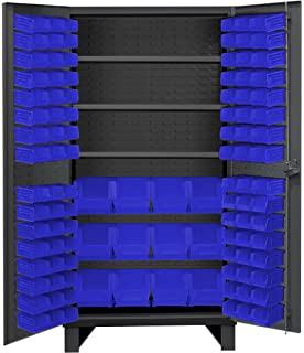 Durham HDC36 108 3S5295 Lockable Cabinet With 108 Blue Hook On Bins,