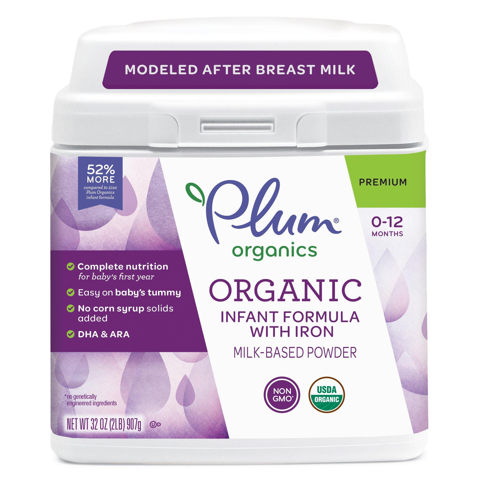 Plum Organics Grow Well Organic Infant Formula, 21 ounce