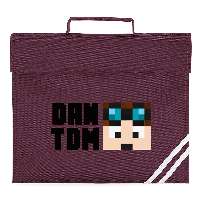 Dantdm Dan The Diamond Minecart Face Player Skin Book Bag Black