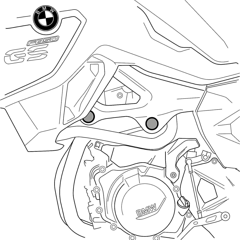 Talla /Única Negro Puig Tapones Chasis 0096N para BMW F750Gs//F850Gs 18-19