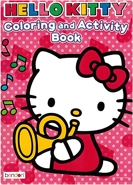 Amazon.com: Hello Kitty Coloring And Activity Book ~ For The Love Of Music  (96 Pages With Answers): Home & Kitchen