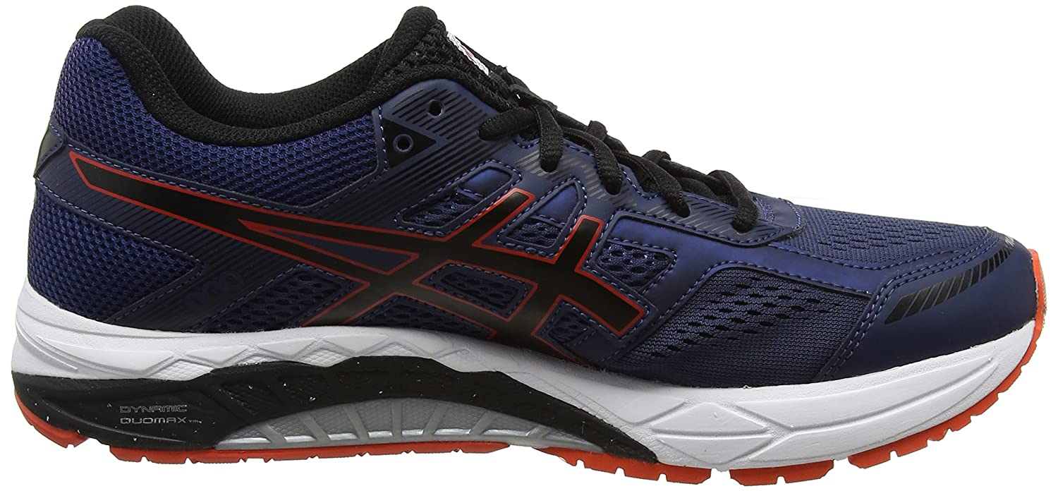 e7bfb10f5d88 ASICS Men s Gel-Foundation 12 (2E) Insignia Blue Black Cherry Tomato  Running Shoes - 6 UK India (40 EU)(7 US)  Buy Online at Low Prices in India  - Amazon.in