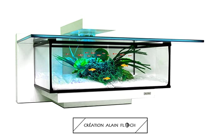 Table Basse Aquarium Tiny 20 Led Design Unique Alain Floch