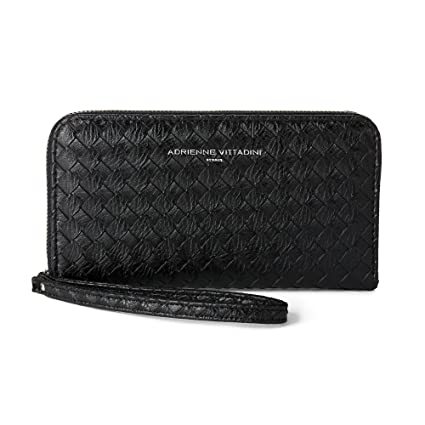 aebfc1d48 Amazon.com: Adrienne Vittadini Charging Wristlet Wallet: Smartphone Zip  Wallet Case with Phone Battery Charger Power Bank for Women and Girls -  Black Basket ...