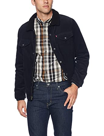6fb8728c4a Levi s Men s Corduroy Sherpa Lined Trucker Jacket at Amazon Men s ...