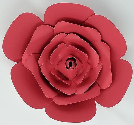 Amazon Paper Flower Rose 10 Diameter Pre Assembled Multiple