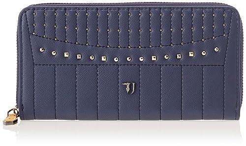 76b4fc7648 Trussardi Jeans 75W00107-9Y099999, Portafoglio Donna, Blu, 20x9.5x2 cm (
