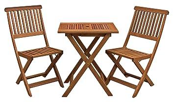 Avanti Trendstore – Mesa y 2 sillas plegables de madera ...