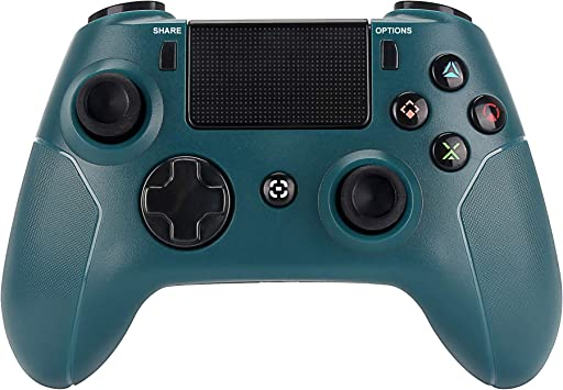 Palanca de Mando inalámbrico para PS4 – Control Remoto de Doble Choque para 4 Juegos, Bluetooth DS4 Gamepad, Soporte para Playstation 4, Pro/Slim PS4, PC, PS TV, Smart TV (Verde): Amazon.es: Electrónica