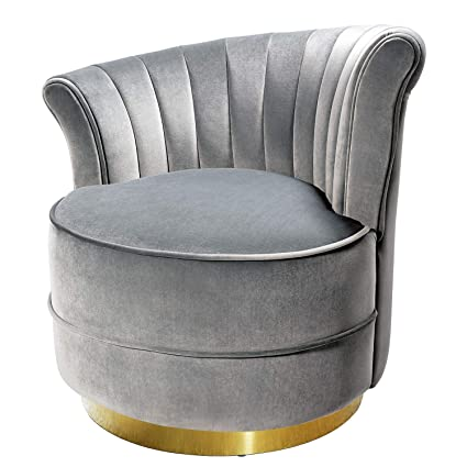 Amazoncom Swivel Accent Chairs Uphostered Club Chair For Bedroom