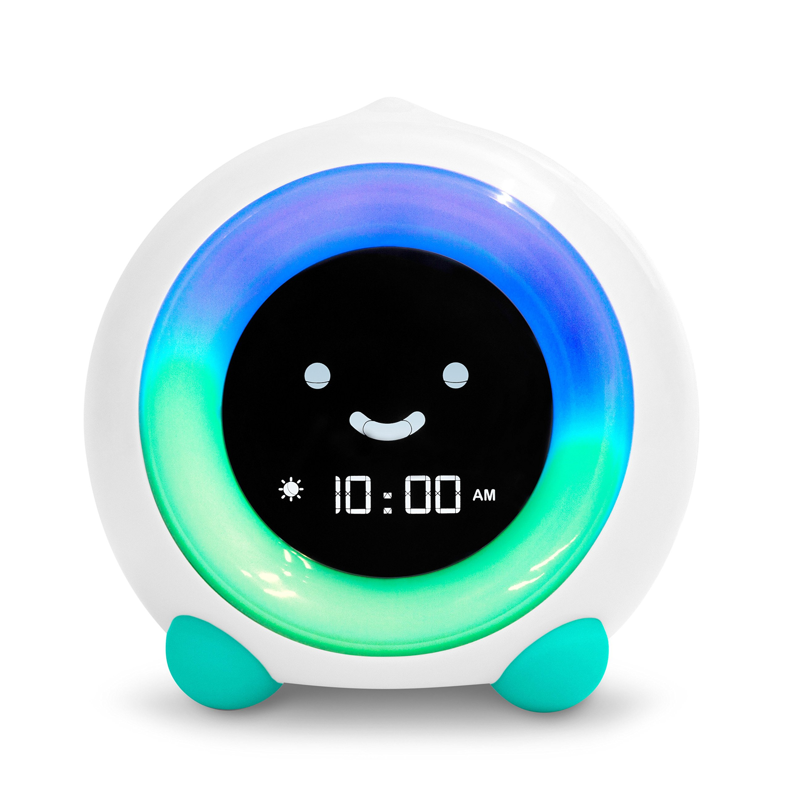 MELLA Ready to Rise Children's Sleep Trainer, Alarm Clock, Night Light and Sleep Sounds Machine (Tropical Teal) by LittleHippo