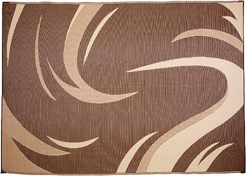 Ming s Mark Inc. SD8117 Mat Graphic Swish 8 X 11, Brown Tan