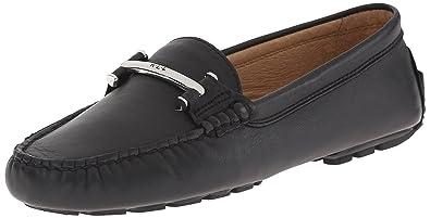 Lauren Ralph Lauren Women's Caliana Slip-On Loafer, Black Nappa, ...